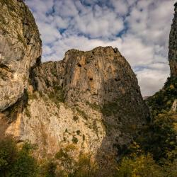 Hiking in the Pirogoshi Cave,tunnels and Kasabashi Bridge,Corovode