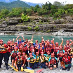 Rafting in Vjosa river, Albania,Permet ,Gjirokaster
