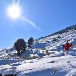 Snowshoeing In the holy Mountain of Tomorr