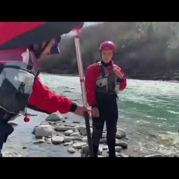 Rafting in Albania,Irena Kita dhe Sofi Kita